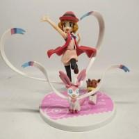 PVC POKEMON Serena and Nymphia Sylveon Figure Japan Anime Statue