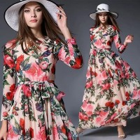 BAJUKIDDIE BLOSSOM MAXI DRESS . gaun lebaran gamis kaftan tunik import