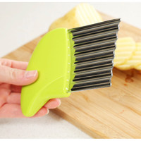 H727 Handle Potato Carrot Wavy Cutter French Stainless Steel