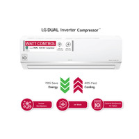AC LG 1PK Inverter E10SV4 Ionizer (KHUSUS BANDUNG)