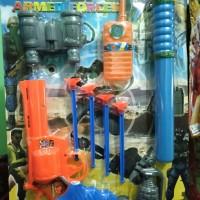 Mainan Pistol Kaca Full Set Troops Armed Forces
