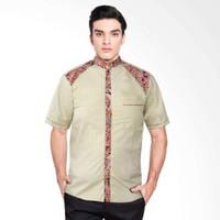 Baju Koko Kombinasi Batik Narendra Atasan Muslim