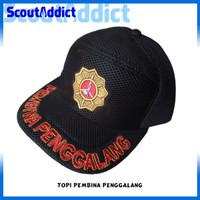 Topi Pramuka Lapangan Logo Pembina Penggalang