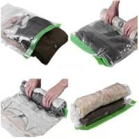 Tas Travel Organizer Plastik Vakum Kompresi tempat baju
