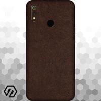 [EXACOAT] Realme 3 Pro Skin / Garskin - Leather Brown
