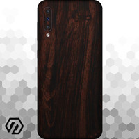[EXACOAT] Galaxy A70 3M Skin / Garskin - Wood Mahogany