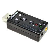 USB Virtual 7.1 Channel Sound Card USB External Adapter Portable MIC
