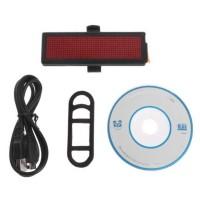 Lampu Belakang Sepeda LED Tail Light DIY Word Display - M1-8