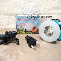 Senter Kepala LED Donat 2in1 T-588 Charge Listrik + Solar panel