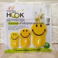 Gantungan Smiley Hook Baju Handuk Sodet (isi 3pcs) / Kait / Hanger