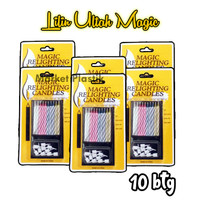 Lilin Ultah Magic/Magic Candle/Lilin Ajaib/ Lilin Kue 10 Batang Murah
