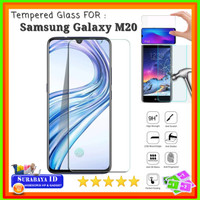 "Tempered Glass Samsung M20 (Full Cover - 6.3"" inchi)"