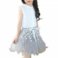 Baju Anak Import Murah Gaun Dress Abu Untuk Anak Perempuan Princess