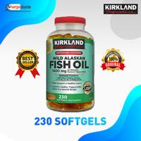 Kirkland Fish Oil Wild Alaskan , 1400 mg - 230 Softgels Ori USA