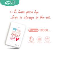 ZOLA Romeo Edisi Valentine Powerbank 10000mAh Fast Charge 2.1A
