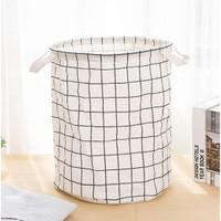 Laundry Bag Kain - Tempat Simpan Baju Kotor Keranjang Pakaian
