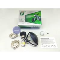 LAMPU UTAMA MOTOR LED 6 SISI RTD AC/DC + KIPAS