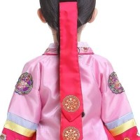 Korea Daenggi Hanbok accesorries costume traditional ribbon hair tie