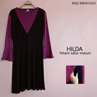 Baju Hamil Lengan Panjang Atasan Hamil dan Menyusui Hilda Panjang