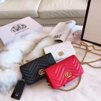 f3d7e306ce gucci marmont front flap sling bag set box / gucci marmont crossbody