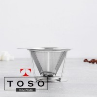 Kona Dripper Stainless V60-TST01 Cone Double Mesh Stand Saringan Kopi