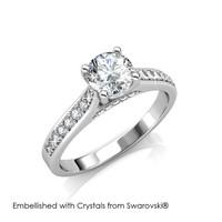 Silver Light Ring - Cincin Crystal Swarovski® by Her Jewellery