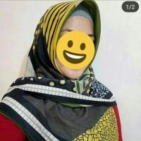 hijab 2 in 1/bolak balik motif/voal premium,segiempat voal ala premium