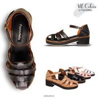 Sepatu Wanita Sneakers Casual FARADELA F-062 - Putih, 38