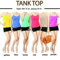 Harga pakaian wanita tanktop aneka warna bahan spandek lycra | antitipu.com
