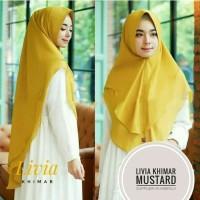 Hijab Kerudung Instan Khimar Syari Livia dua Layer Terbaru Murah