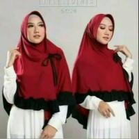 Hijab Khimar Kerudung Instan Syari Jilbab Ped Kikis Jumbo Baru Murah