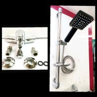 shower minimalis komplit tiang stainles asli &kran bath Berkualitas