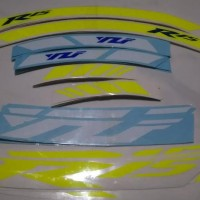 TERUJI Stiker Velg Sticker Decal Motor Yamaha YZF R25 bisa custom jadi