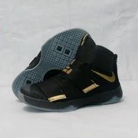 SEPATU BASKET NIKE LEBRON BLACK GOLD IMPORT