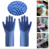 Sarung Tangan Silikon Multifungsi Magic Scrubber Gloves Cuci Piring