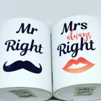 Mug Couple Mr. Right & Mrs. Always Right Custom Nama