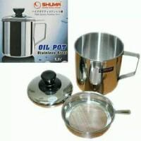 Shuma oil pot 0,7L dan 1,1L stainless steel/cangkir saring minyak