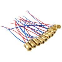 10pcs 5V 650nm Merah Tembaga Laser pointer kepala Dioda Laser
