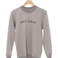 Good Sunday Sweater Typo Grey