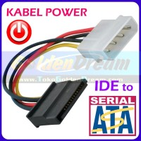 Kabel Power SATA Cable Wire Cord 4p IDE to Serial ATA Harddisk SSD HD