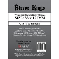 """Sleeve Kings """"Tiny Epic Compatible"""" Card Sleeves (88x125mm) - 110 Pack"""