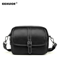 Tas Import Excelsior Fashion Wanita Kulit PU Tukang Pos Solid Wanita