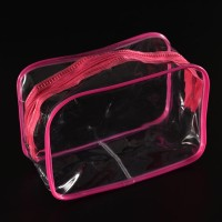 Tas Import Wanita Travel Kosmetik PVC Transparan Batal Zipper Pria