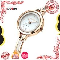 Jam Tangan Wanita Impor Asli DOOBO Gelang untuk Fashion Gaun Emas