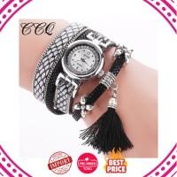 Jam Tangan Wanita Impor Ccq Merek Fashion Gelang Perak Asli Desain