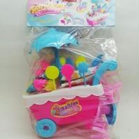 Mainan Kitchenset Dorongan ice cream size kecil