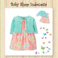 Dress Bayi Import Murah Butterfly Bolero Bayi Dress Hijau Anak Import