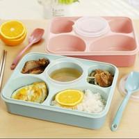 Kotak Makan Yooyee 393 / Lunch Box Bekal Sekat 5 + Tempat Sup + Sendok