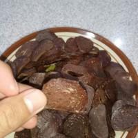 kerupuk jengkol asli Indramayu enak banget gurih langsung goreng
