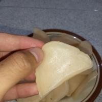 kerupuk udang mentah langsung goreng enak sedap mantap asli Indramayu